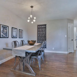 West Linn staged dining room