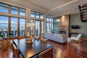 Lifestyle staged penthouse