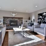 West Linn staged living room