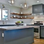 West Linn staged kitchen