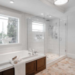 Portland staged master bathroom