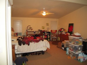 Before: Clutter distracts and will lower value of your home