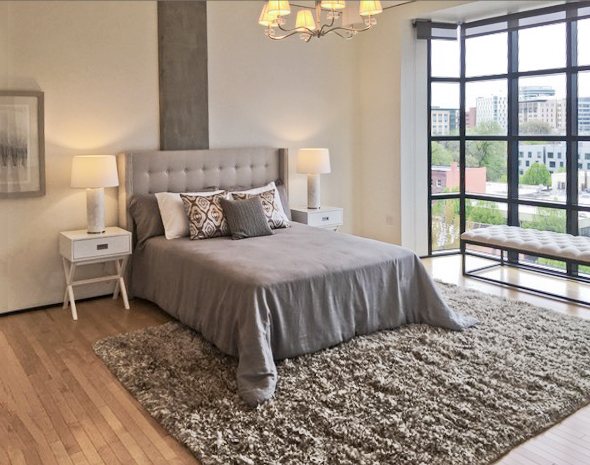 Elizabeth Loft and defining the space in the bedroom