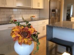 flowers in the kitchen add warmth
