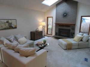 Beaverton staged living room-imaigne stagers