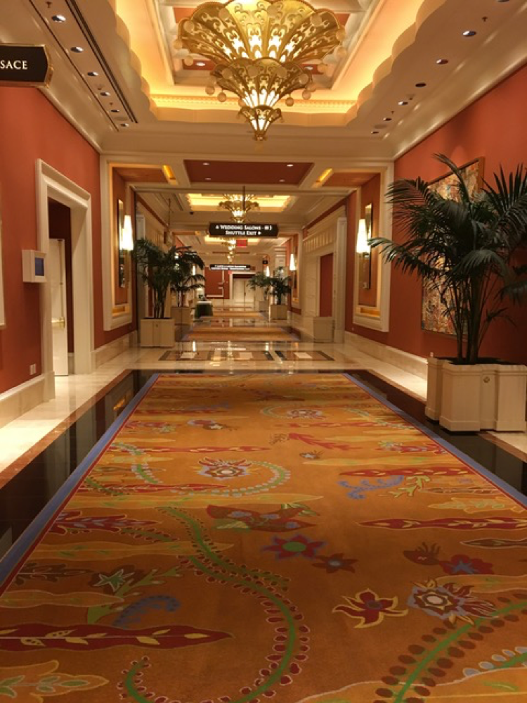Making my way back to my hotel room at the Wynn Encore, I noticed their decor colors were right on trend!