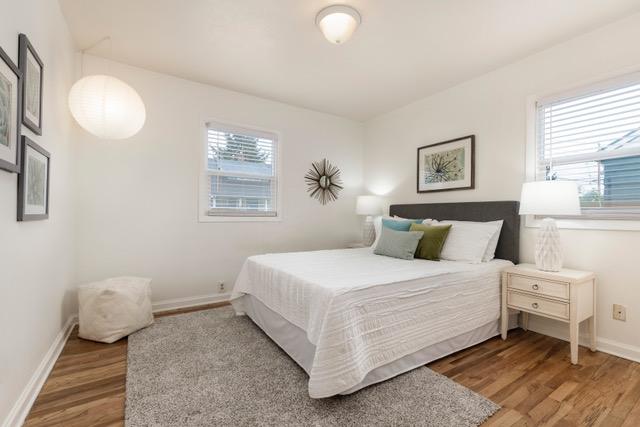 Ranchalow Girlfriend staged master bedroom