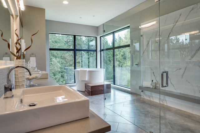 The Sweetbriar Property's master bath is a delightful escape