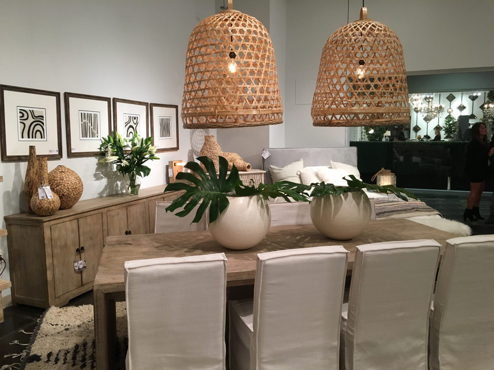 These chandeliers are a flashback to the natural look of the 70's