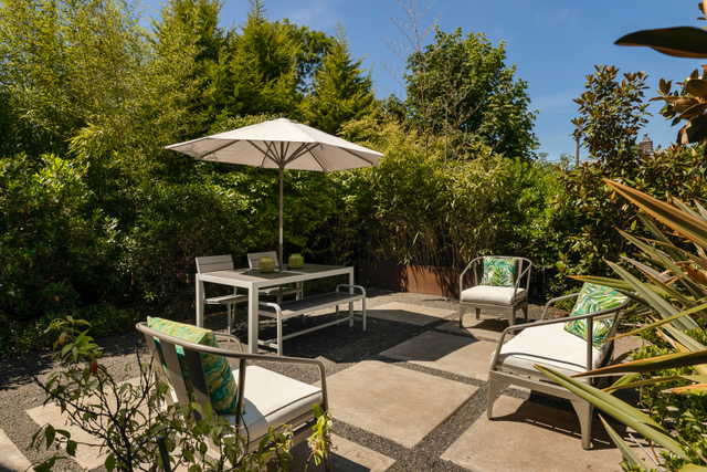 We highlighted this home's beautiful outdoor area