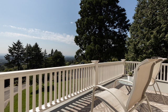 West Hills 1920's Colonial has sweeping views of the valley