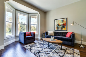 Imagine staged this NE Portland living room with contemporary colors.