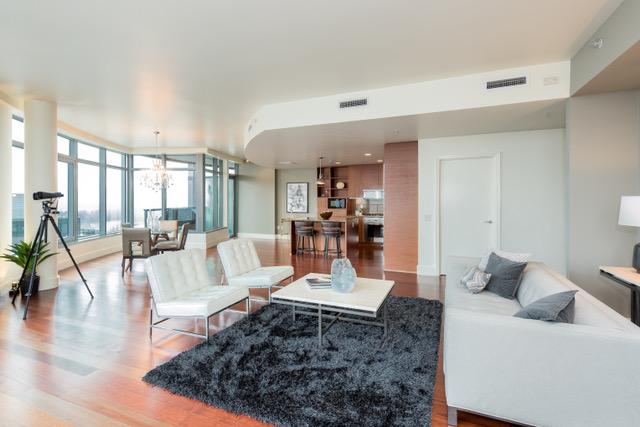 luxury penthouse with wraparound porch